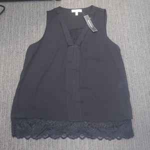 Black professional sleeveless top